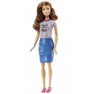 Барби шатенка в синей юбке 'Игра с модой' Бишкек и Ош купить в магазине игрушек LEMUR.KG доставка по всему Кыргызстану