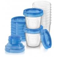Avent Набор контейнеров 180 мл для Грудного молока 1 шт. c крышками Бишкек и Ош купить в магазине игрушек LEMUR.KG доставка по всему Кыргызстану