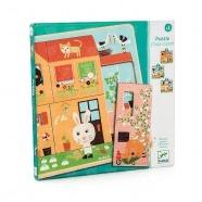 Djeco Пазл для малышей Дом зайцев Бишкек и Ош купить в магазине игрушек LEMUR.KG доставка по всему Кыргызстану
