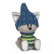 Мягкая игрушка Волчонок Вока в шапочке и свитере