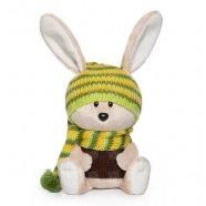 Мягкая игрушка Заяц Антоша в шапочке и свитере
